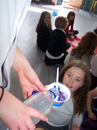 Pupils getting involved with Science. After school clubs and birthday parties can be run in Shepton Mallet, Frome, Trowbridge and Bristol